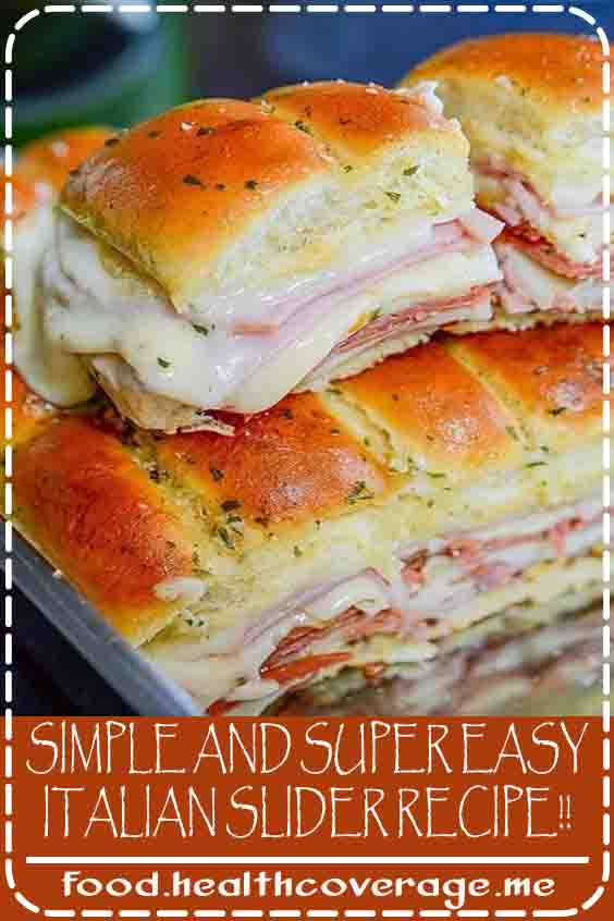 Yep! This is an easy Italian slider recipe. What more can I say? It's simple, super easy to make and incredibly delicious. Oh.. and pretty darn cheesy too… and who doesn't like cheesy?