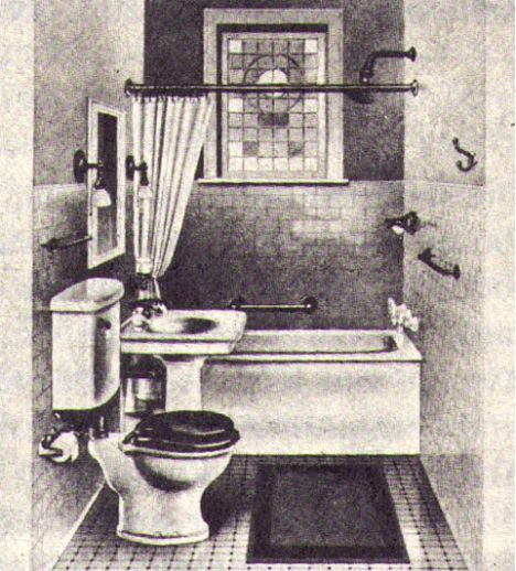Standard bathroom, circa 1915