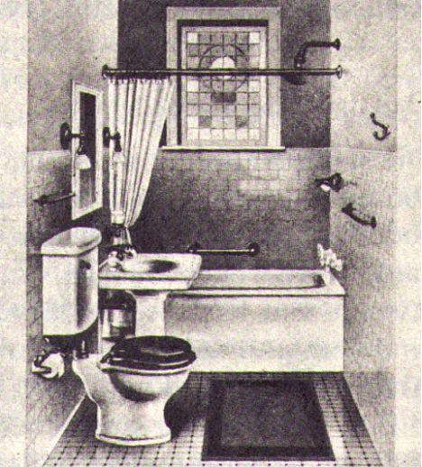Standard bathroom, circa 1915