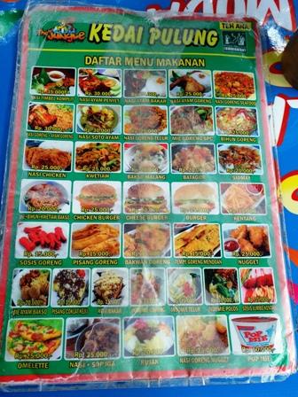 menu makan the jungle