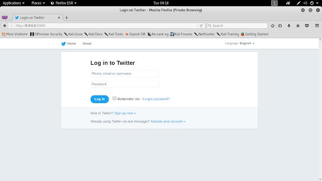 Socialfish v3 phishing kali linux