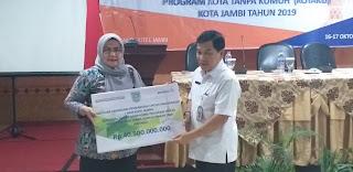 Sekda Kota Jambi Secara Resmi Membuka Lokakarya Tingkat kota National SLUMP UPGRADING PROGRAM (NSUP) Program Kota Tanpa Kumuh (KOTAKU) Kota Jambi Tahun 2019.