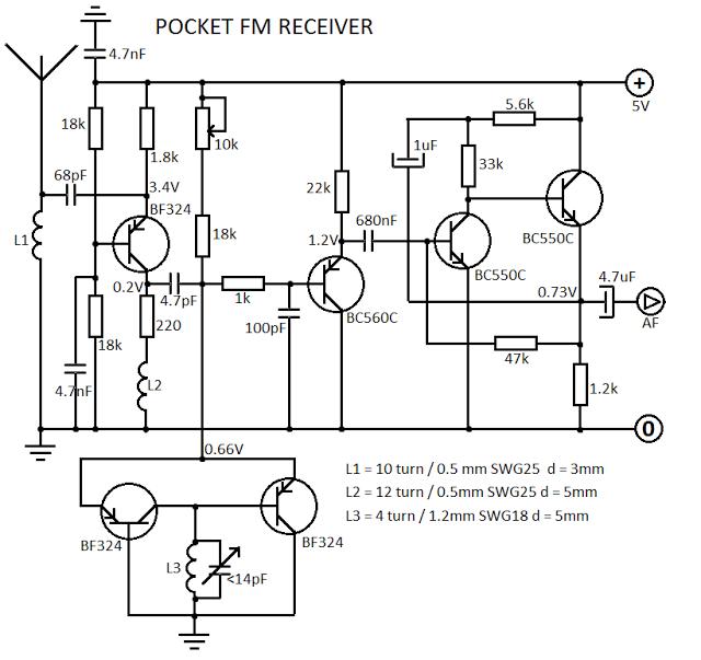 Simple FM Receiver Circuit Diagram ~ Diagram circuit