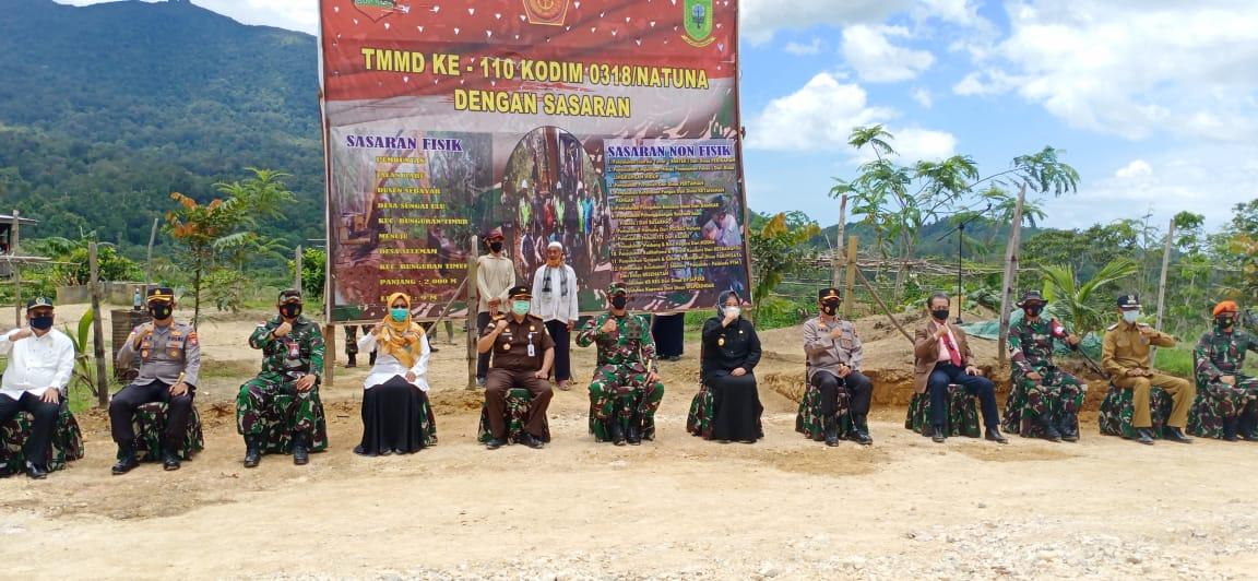 Wakil Pangdam I/BB, Danrem 033/WP Menutup Program IMMD Kodim 0318/Natuna Ke 110