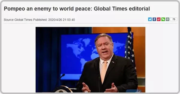 Pompeo an enemy to world peace: Global Times editorial