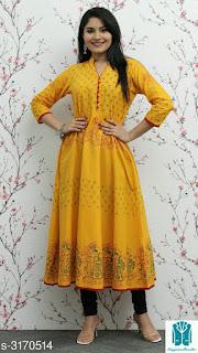 Myhra Stylish Women's Cotton Kurtis
