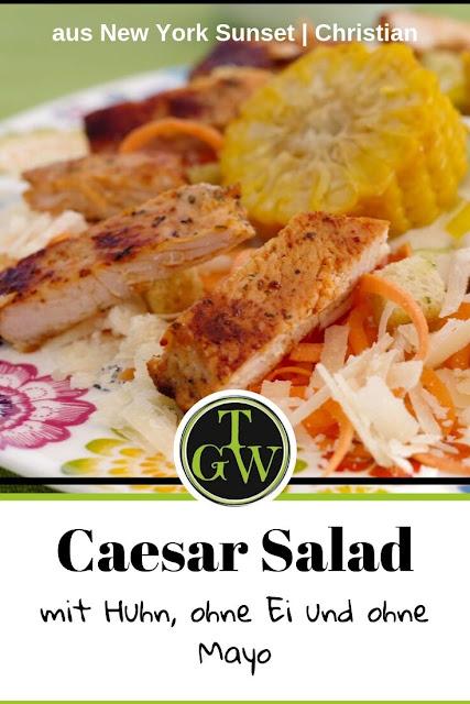 Caesar Salad aus New York Sunset, Rezept nach Susann Kreihe, Christian Verlag - Foodblog Topfgartenwelt