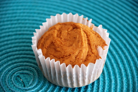 3 ingredient gluten free pumpkin muffin