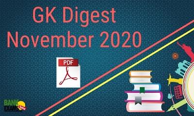 GK Digest November 2020 - Download PDF