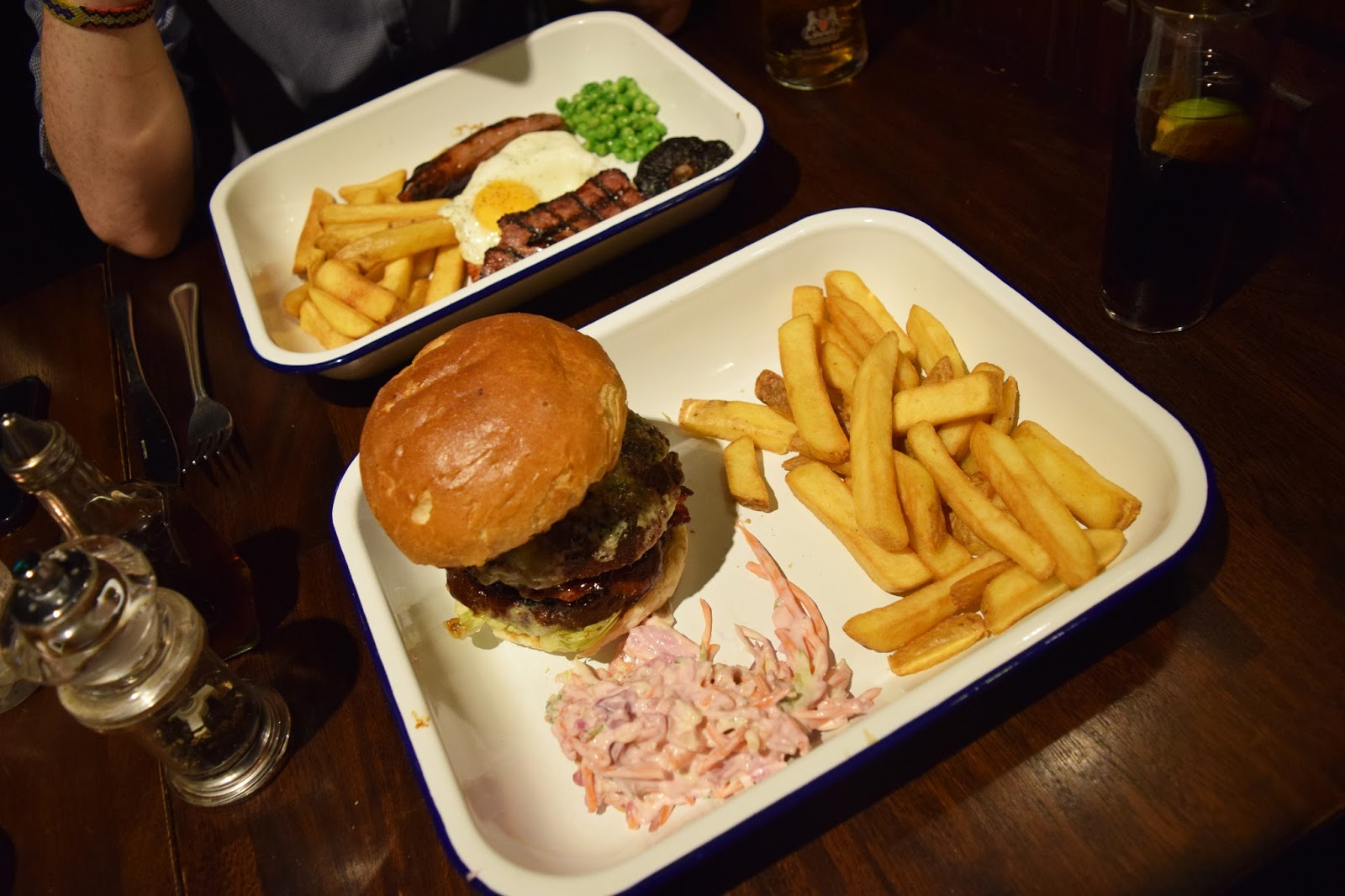 Our meals at Baccus bar