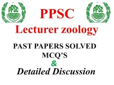 PPSC Lecturer Zoology Past Papers Solved MCQS