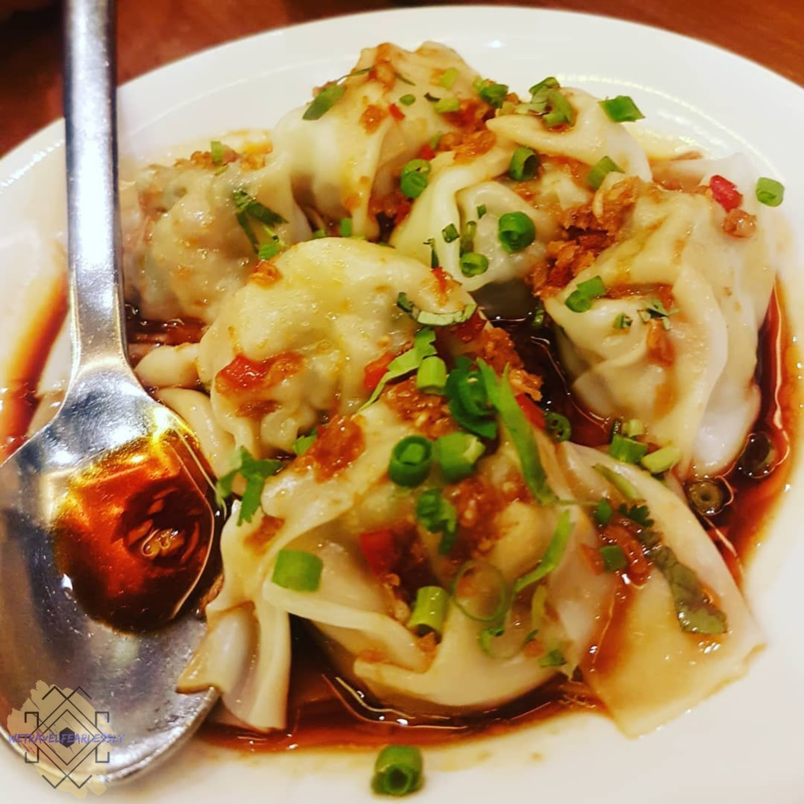 Pork Dumpling in Hot Chili Vinaigrette 6pcs (PHP168) in Paradise Dynasty in S Maison, Pasay City - WTF Review