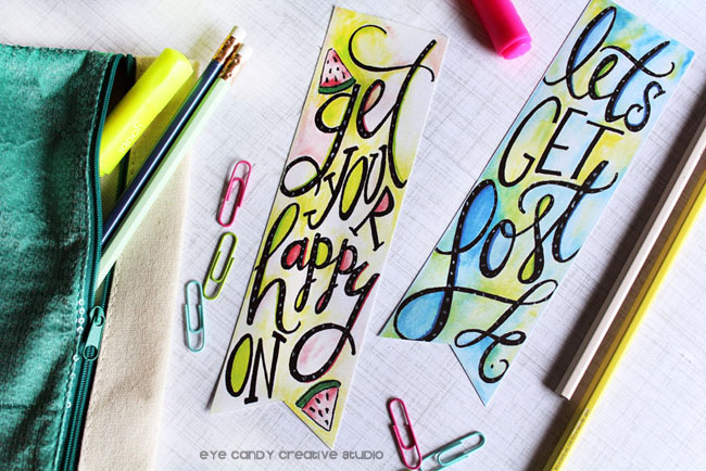 hand lettering, let's get lost, get your happy on, watermelon, lettering, tombowpro