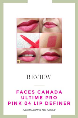 Review of Faces Pink 04 Lip Definer, Faces Pink lipliner on NBAM blog