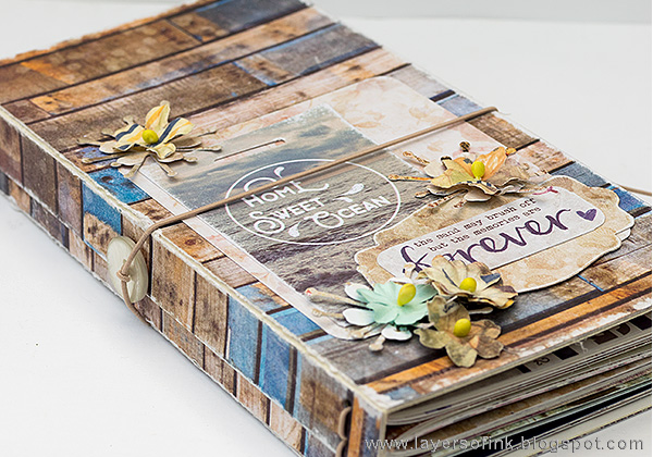 Layers of ink - Seaside Journal Tutorial by Anna-Karin with the Sizzix Journal Die by Eileen Hull