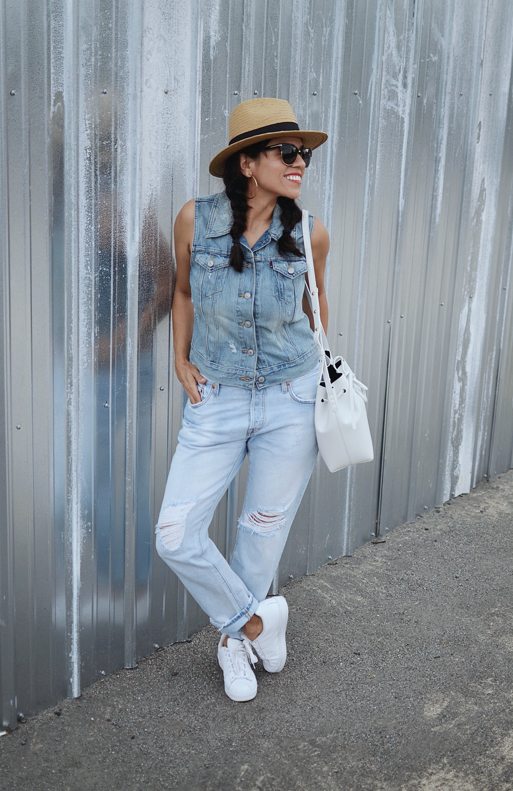 Denim on Denim Summer Outfit