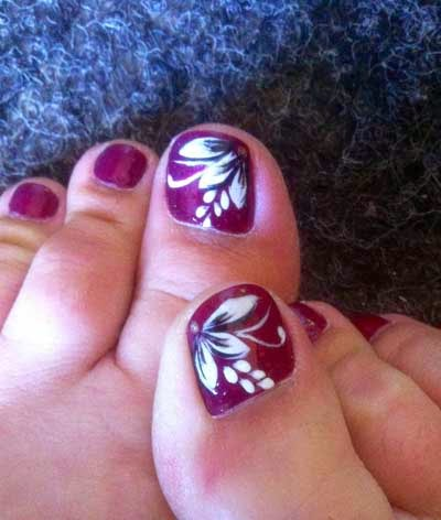 Hawaiian Flower Toenail Design | Joy Studio Design Gallery ...