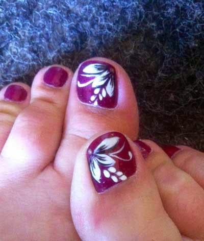 cute toenail designs: Beauty of Floral Nail Art