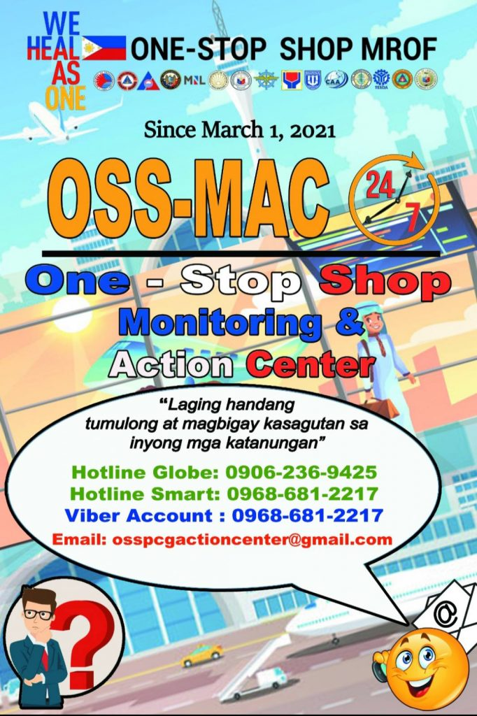OSS One-Stop Shop Monitoring & Action Center Contact Details