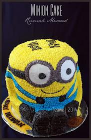 to Teawe's blog Minion Cake