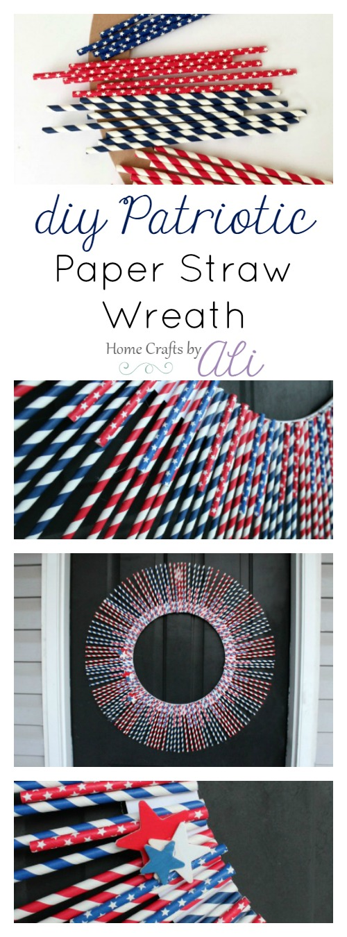 easy 4th of July wreath door decor