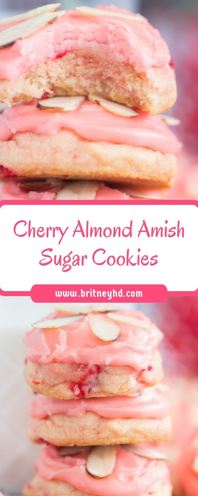 CHERRY ALMOND AMISH SUGAR COOKIES