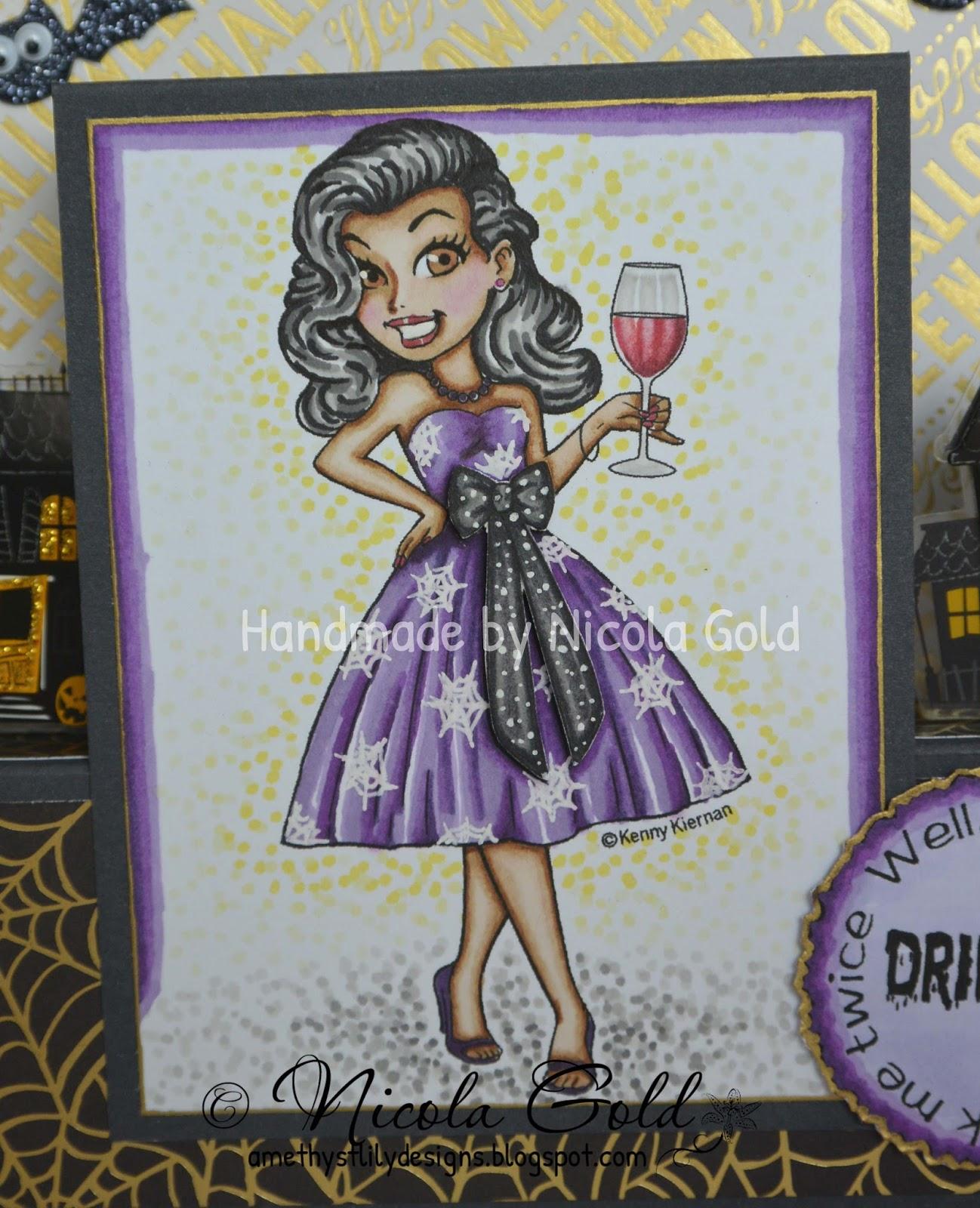 Amethyst Lily Designs Halloween Sentiments At Club Kennyk