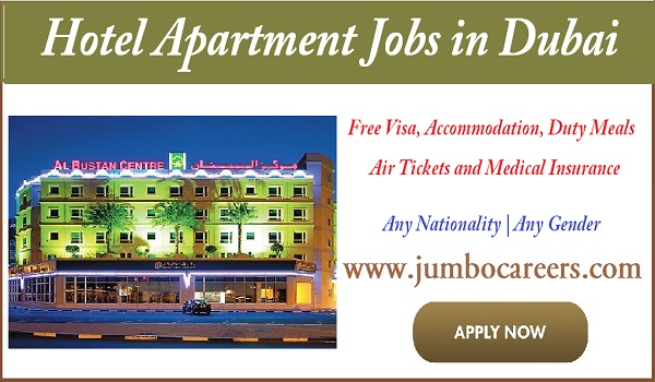 Latest jobs at Al Bustan Hotel apartments Dubai, Hotel apartment jobs in Dubai,
