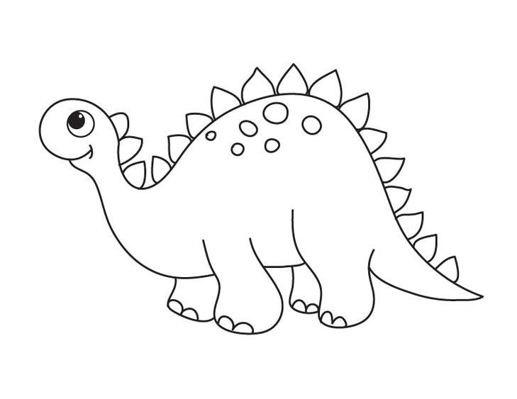 Hình tô màu con khủng long xinh