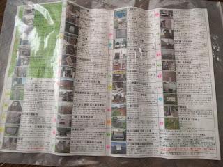 地図の裏に掲載されたチェックポイントの写真とヒント