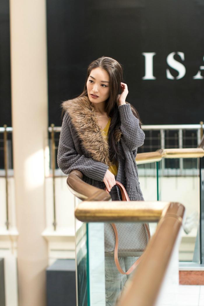 how to wear faux fur