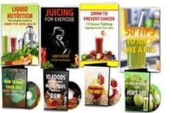 مجموعه كتب للوصفات الصحيه والرجيم والعصائر