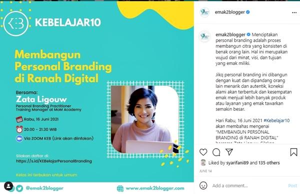 Membangun Personal Branding di Ranah Digital KEB Belajar