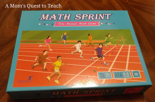 cover of Math Sprint game box