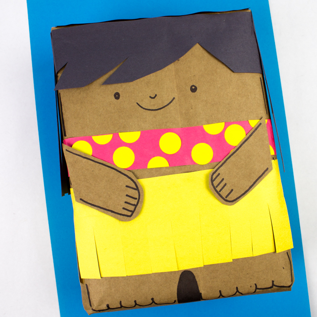 Here's a creative way to wrap birthday gifts- turn it into a hula girl!