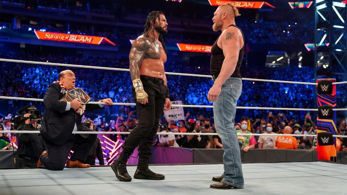 """Brock Lesnar deverá atuar como """"babyface"""" na rivalidade com Roman Reigns"""