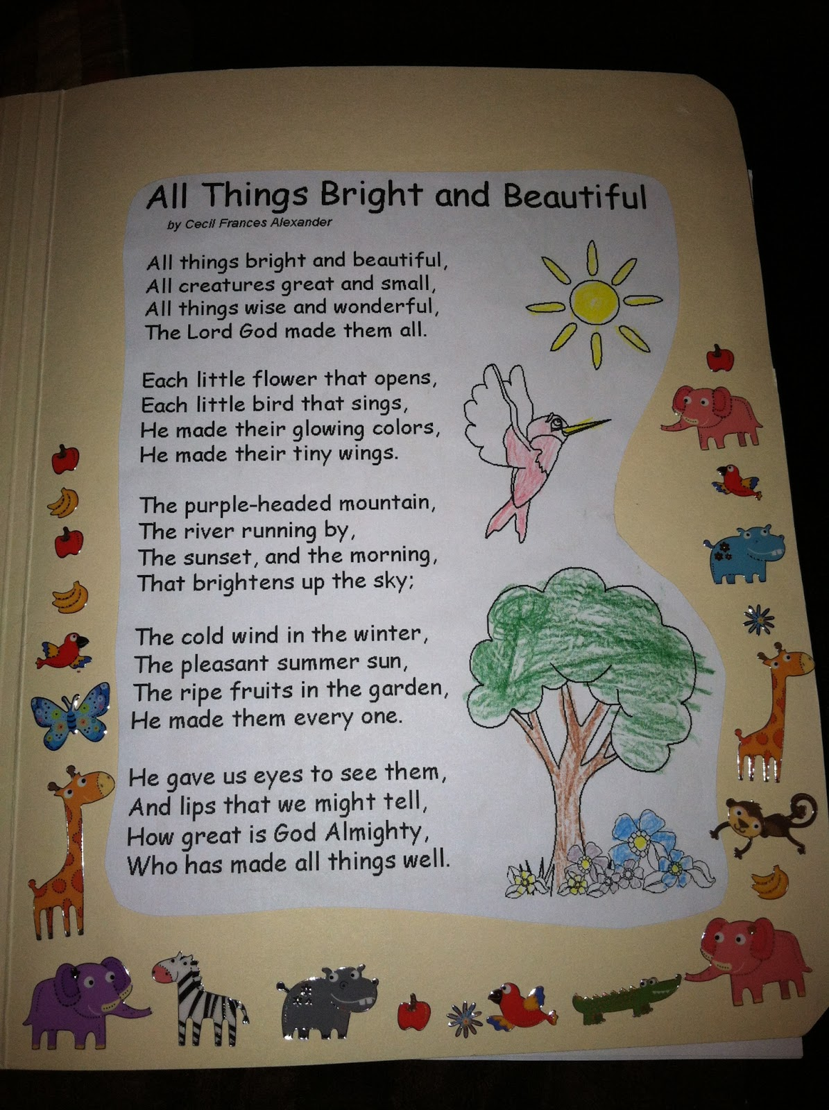 Beautiful And Bright Dining Room Ideas: Being Blessed: Poetry Lapbook