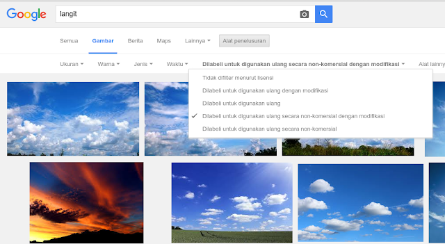 Pedoman dalam Mencari Gambar di Google