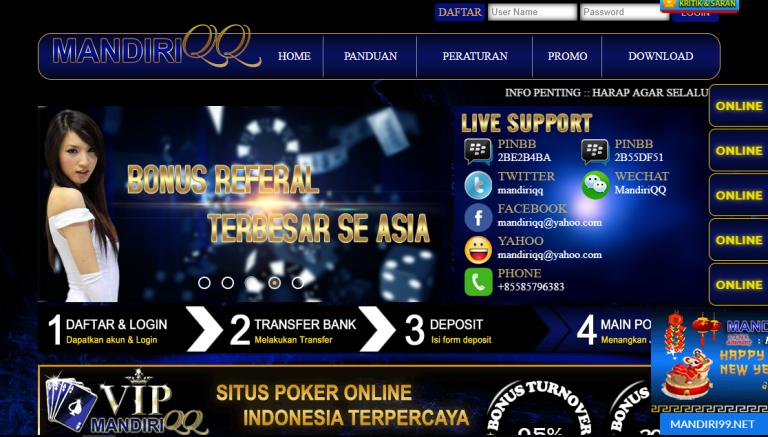 Cahayaqq Mandiriqq Situs Poker Agen Bandarq Terbaru