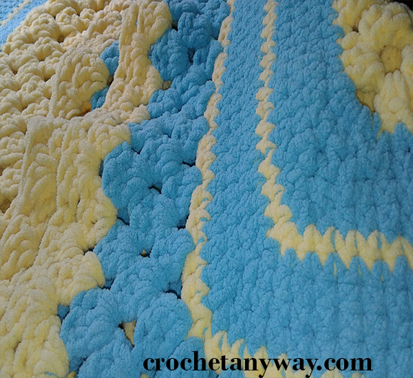 Yellow and blue Spring blanket
