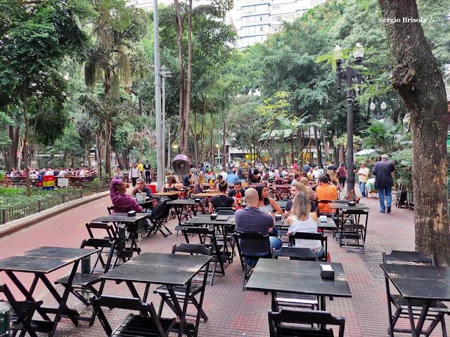 Vista de parte da Praça Dom José Gaspar - República - São Paulo