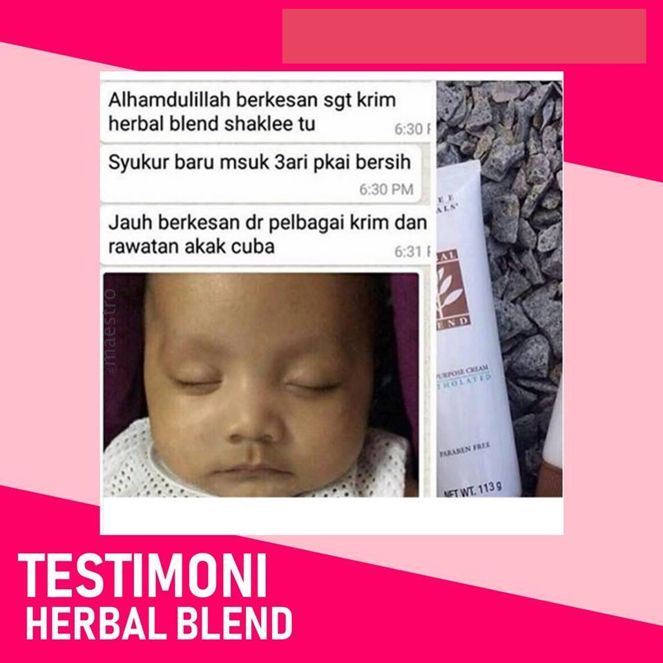 Testimoni Herbal Blend shaklee Ruam Bayi ruam susu baby