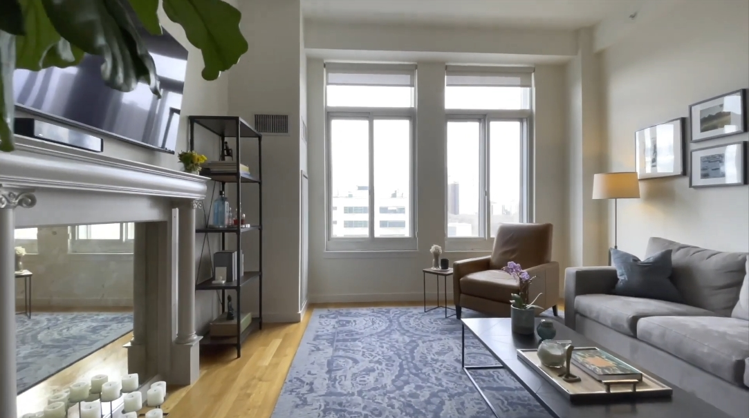 10 Interior Design Photos vs. 85 Adams St #12C, Brooklyn, NY Condo Tour