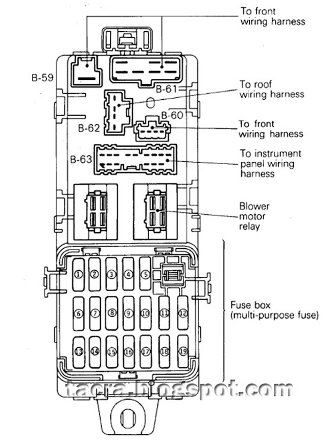 tacra's diy garage: 4G9X Fuse & Relay