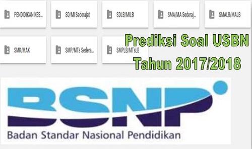 Prediksi Soal USBN Tahun 2017/2018