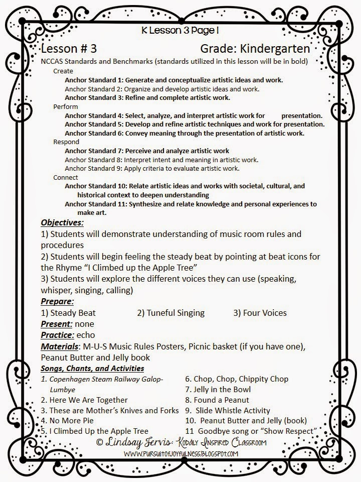 Kodaly Inspired Classroom Lesson Planning