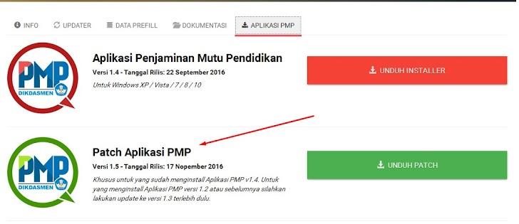 Download Patch Aplikasi PMP Versi 1.5 Rilis 17 November 2016