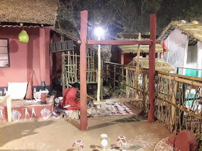 34 Replica of Adivasi Houses in Bhubaneswar Adivasi Mela 2017.