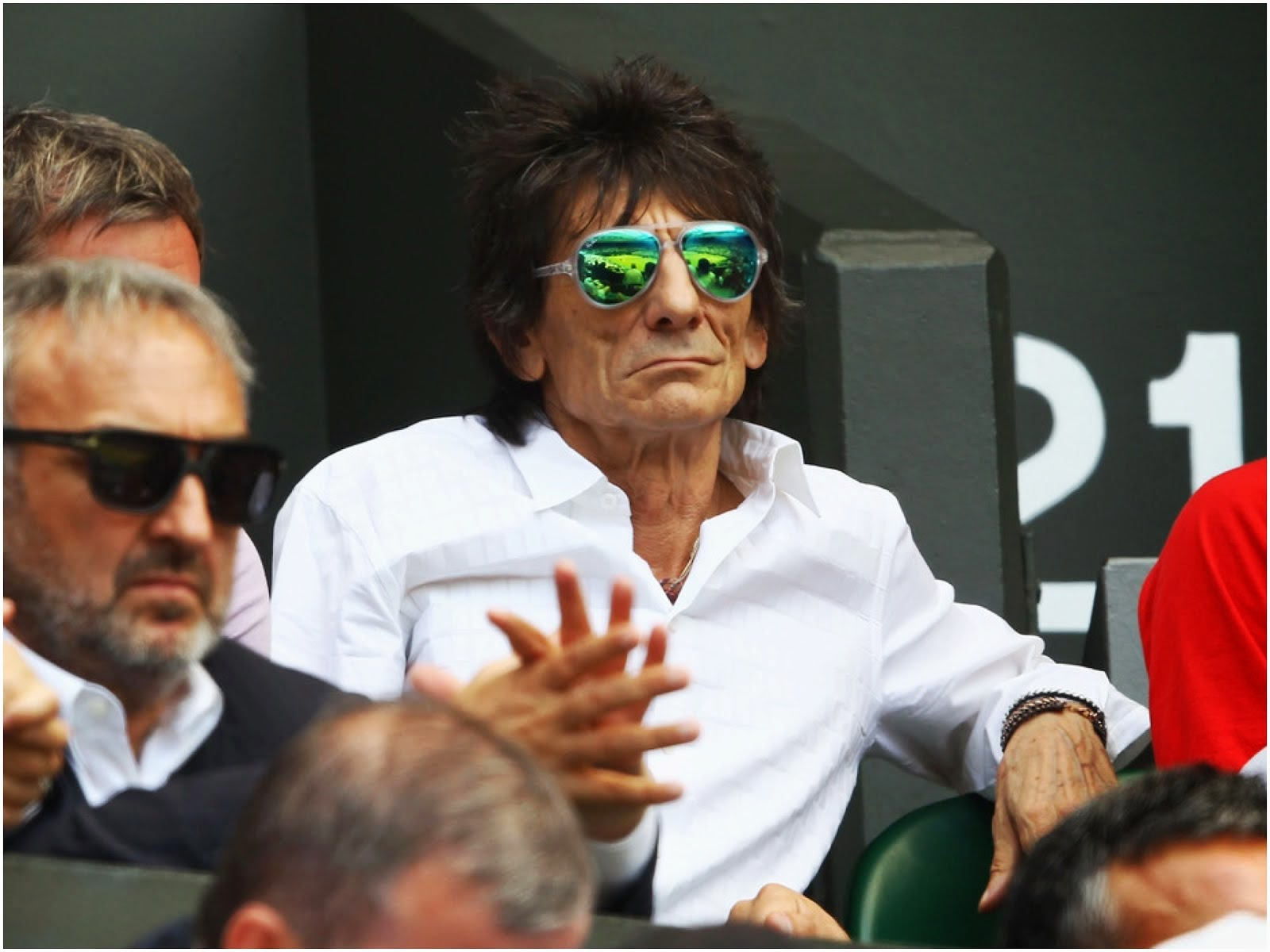 What S He Wearing Ronnie Wood In Jonathan Saunders