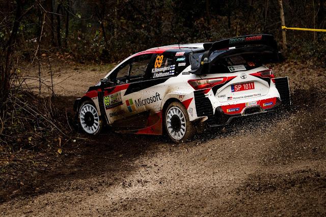 Kalle Rovanpera sliding his Rally car